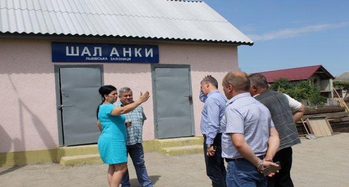 На залізничній станції в селі Шаланки тривають роботи із реконструкції перону