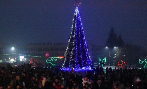 В Іршаві запалили новорічні вогні на головній ялинці