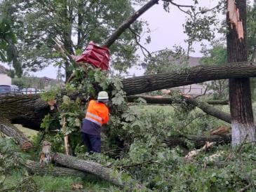 Негодою пошкоджено дахи 95 будинків, 2 дитсадків, сільради та школи