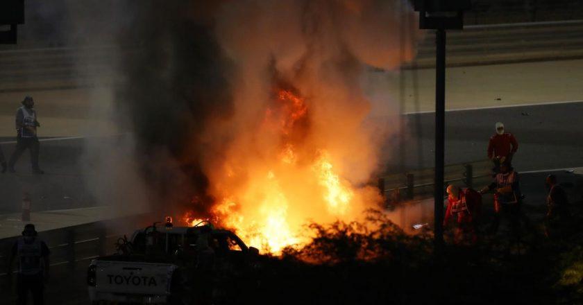 Пілот Формули-1 записав відеозвернення після пережитої аварії з вибухом
