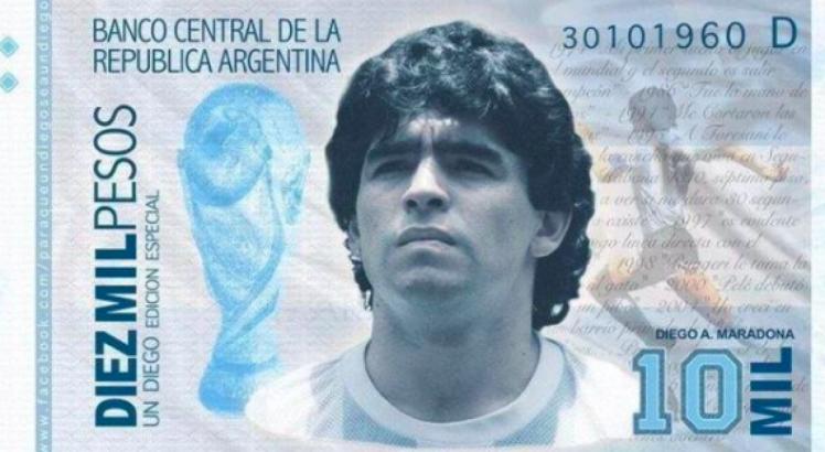 В Аргентині може з'явитись купюра із зображенням Марадони