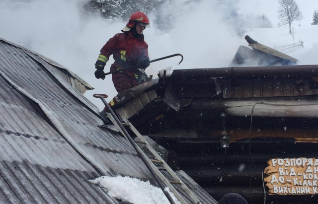 В туристичному селі загорівся ресторан