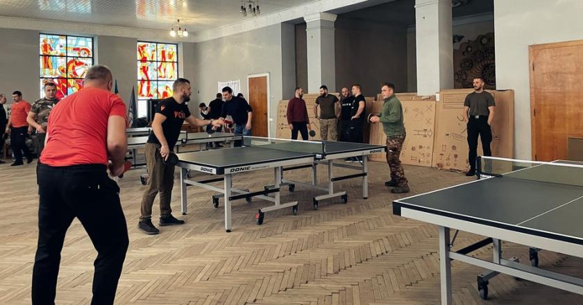 Турнір з настільного тенісу для учасників АТО в Ужгороді