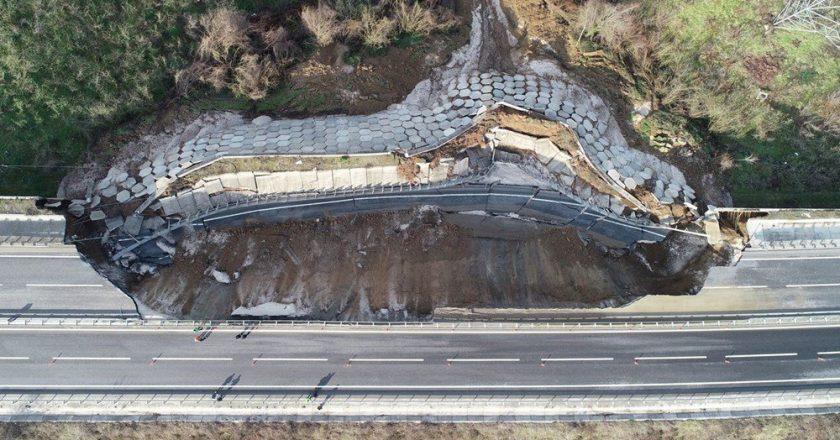85-метровий обвал стався на трасі: подробиці страшної події (фото)