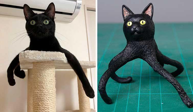 Художник перетворює кумедні світлини тварин в скульптури, які виглядають ще смішніше (ФОТО)