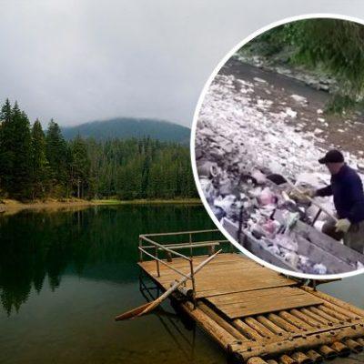 За засмічення берегу річки на території Національного парку «Синевир» – винних притягнуть до відповідальності